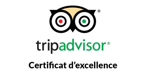 Certificat d'excellence pour l'Hôtel Azur